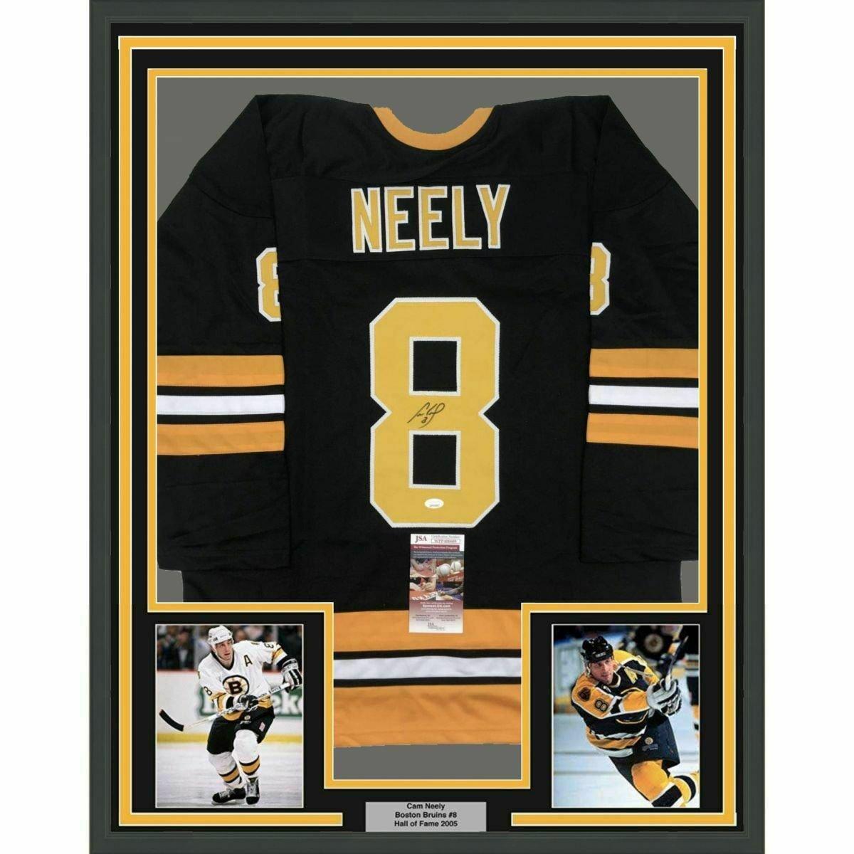 Cam Neely Autographed Signed Framed Boston Bruins Jersey JSA