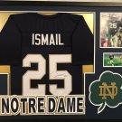 Raghib Rocket Ismail Autographed Signed Framed Notre Dame Jersey JSA