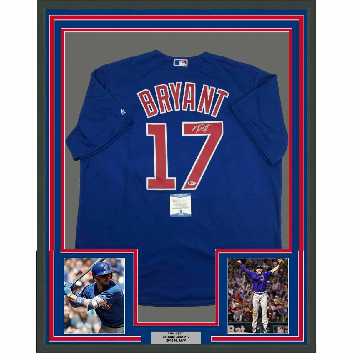 Kris Bryant Autographed Signed Framed Chicago Cubs Jersey BECKETT