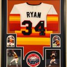 Nolan Ryan Autographed Signed Framed Houston Astros Cooperstown Jersey RYAN COA