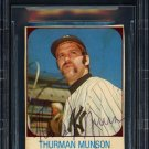 Thurman Munson Yankees Autographed Signed 1975 Hostess Card BECKETT