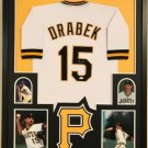 Andy Van Slyke Autographed Signed Framed Pittsburgh Pirates Jersey JSA