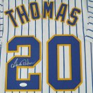 Gorman Thomas Autographed Signed Framed Milwaukee Brewers Jersey JSA