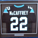 Christian McCaffrey Autographed Signed Framed Carolina Panthers Jersey BECKETT