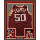 Ralph Sampson Autographed Signed Framed Houston Rockets Jersey TRISTAR