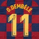 Ousmane Dembele Signed Autographed Barcelona Nike Soccer Jersey BECKETT