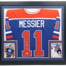 Mark Messier Autographed Signed Framed Edmonton Oilers Jersey JSA