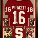 Jim Plunkett Autographed Signed Framed Stanford Cardinals Jersey JSA