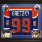 Wayne Gretzky Autographed Signed Framed Edmonton Oilers CCM Jersey BECKETT