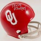 Lance Rentzel Cowboys Rams Autographed Signed Oklahoma Sooners Mini Helmet JSA