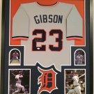Kirk Gibson Autographed Signed Framed Detroit Tigers Jersey PSA