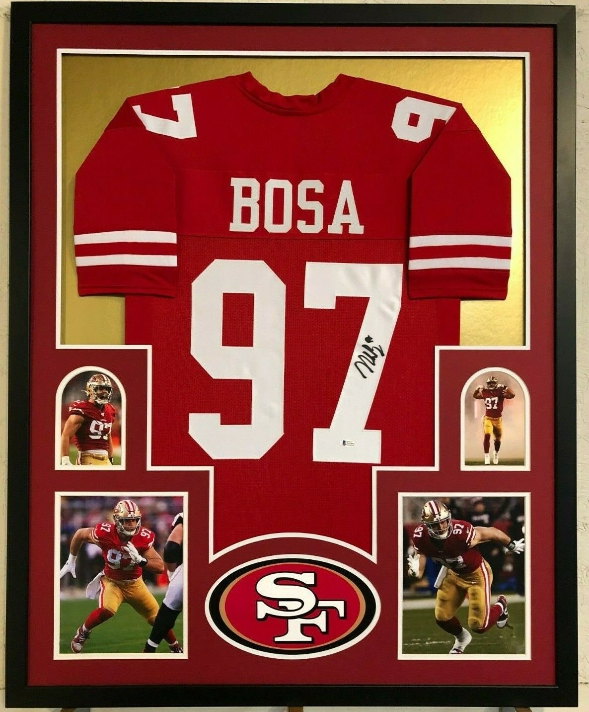 Nick Bosa Autographed Signed San Francisco 49ers Framed Jersey BECKETT