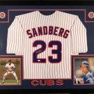 Ryne Sandberg Autographed Signed Framed Chicago Cubs Jersey JSA
