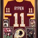 Mark Rypien Autographed Signed Framed Washington Redskins Jersey JSA