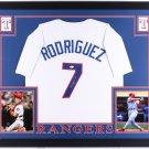 Ivan Rodriguez Autographed Signed Framed Texas Rangers Jersey JSA