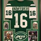 Vinny Testaverde Autographed Signed Framed New York Jets Jersey JSA