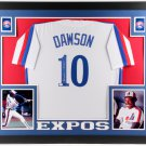 Andre Dawson Autographed Signed Framed Montreal Expos Jersey JSA