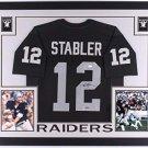 Ken Stabler Autographed Signed Framed Oakland Raiders Jersey PSA