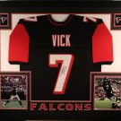 Michael Vick Autographed Signed Framed Atlanta Falcons Jersey JSA