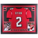 Matt Ryan Autographed Signed Framed Atlanta Falcons Jersey JSA