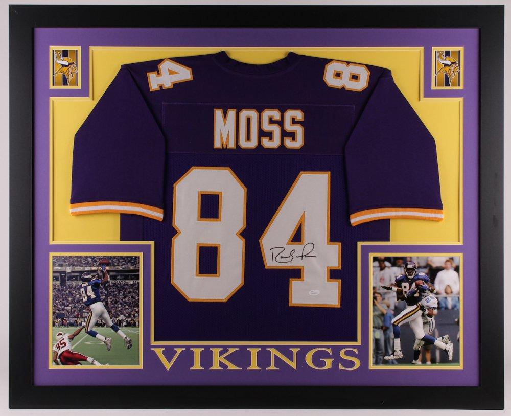 Randy Moss Autographed Signed Framed Minnesota Vikings Jersey BECKETT