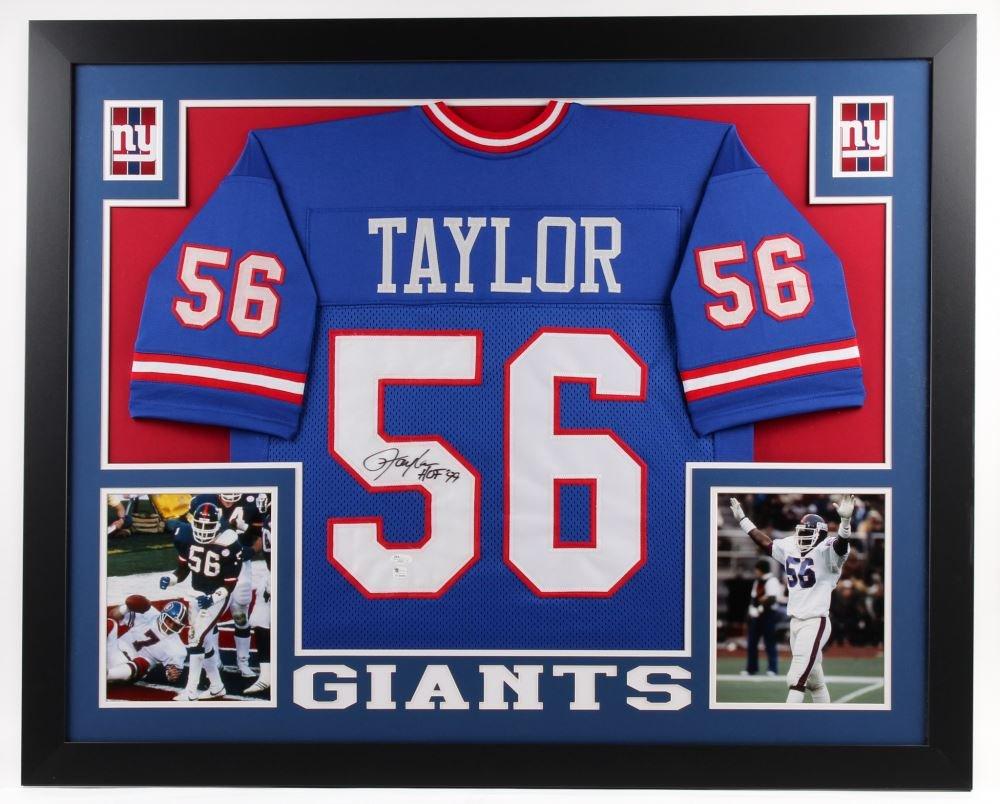 Lawrence Taylor Autographed Signed Framed New York Giants Jersey JSA