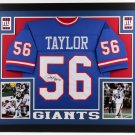 Lawrence Taylor Autographed Signed Framed New York Giants Jersey BECKETT