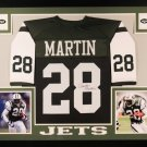 Curtis Martin Autographed Signed Framed New York Jets Jersey JSA
