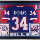 Thurman Thomas Autographed Signed Framed Buffalo Bills Jersey BECKETT
