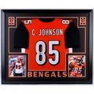 Chad Johnson Autographed Signed Framed Cincinnati Bengals Jersey JSA