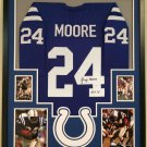 Lenny Moore Autographed Signed Framed Baltimore Colts Jersey JSA