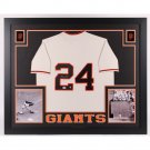 Willie Mays Signed Autographed Framed San Francisco Giants Jersey MAYS HOLO