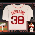 Curt Schilling Autographed Signed Framed Boston Red Sox Jersey JSA