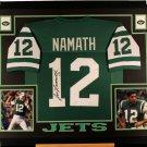 Joe Namath Autographed Signed Framed New York Jets Jersey BECKETT