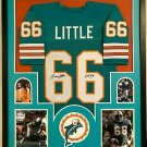Larry Little Autographed Signed Framed Miami Dolphins Jersey JSA
