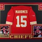 Patrick Mahomes Signed Autographed Kansas Chiefs Framed Jersey FANATICS