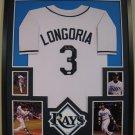 Evan Longoria Autographed Signed Framed Tampa Bay Devil Rays Majestic Jersey JSA