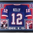 Jim Kelly Autographed Signed Framed Buffalo Bills Jersey BECKETT