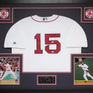 Dustin Pedroia Autographed Signed Framed Boston Red Sox Jersey MLB
