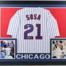 Sammy Sosa Autographed Signed Framed Chicago Cubs Jersey BECKETT