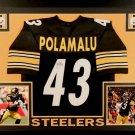 Troy Polamalu Autographed Signed Framed Pittsburgh Steelers Jersey JSA