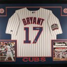 Kris Bryant Autographed Signed Framed Chicago Cubs Majestic Jersey FANATICS