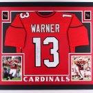 Kurt Warner Autographed Signed Framed Arizona Cardinals Jersey JSA
