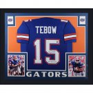 TIm Tebow Autographed Signed Framed Florida Gators Jersey COA