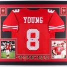 Steve Young Autographed Signed Framed San Francisco 49ers Jersey JSA