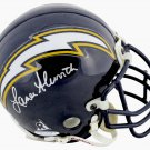 Lance Alworth Autographed Signed San Diego Chargers Mini Helmet BECKETT