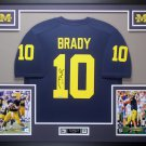 Tom Brady Autographed Signed Framed Michigan Wolverines Jersey FANATICS