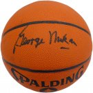 George Mikan Minneapolis Lakers Signed Autographed Spalding Basketball BECKETT