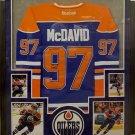 Connor McDavid Autographed Signed Framed Edmonton Oilers Adidas Jersey PSA