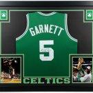 Kevin Garnett Autographed Signed Framed Boston Celtics Jersey BECKETT